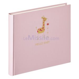 Walther Bébé girafe rose   25x28 50 pages blanches         UK148R