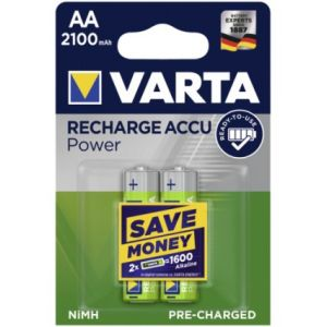 1x2 Varta Rechargeable Accu AA Ready2Use NiMH 2100 mAh Mignon