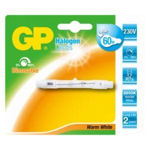 GP Lighting Tube halogène R7S 48W (60W) 78mm         GP 060406