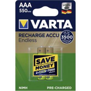 1x2 Varta RECHARGE ACCU Endless 550 mAH AAA Micro NiMH