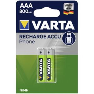 1x2 Varta Accu Professional Accu NiMH 800 mAh AAA Phone Power