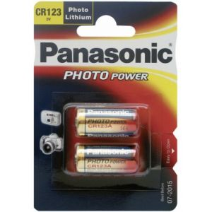 1x2 Panasonic Photo CR 123 A Lithium