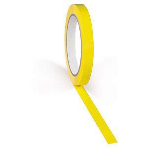 Adhésif jaune petite largeur 37 microns RAJATAPE 12 mm x 66 m
