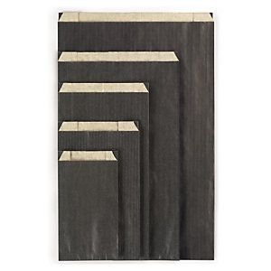 Pochette cadeau kraft couleur noir 31x8x47 cm