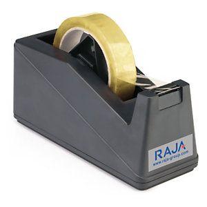 Dévidoir adhésif de bureau RAJA grand mod?le noir