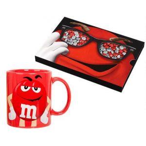 Coffret M&M's + Mug Rouge  drag?es chocolat  ? personnaliser