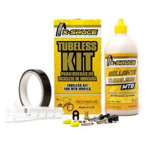 X-sauce Presta Tubeless Kit 25 mm Black - Black - Taille 25 mm