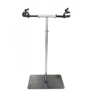 Pieds d'atelier Msc Professional Workshop Repair Stand For 2 Bikes - Silver / Black - Taille 120-165 x 80 x 60 cm