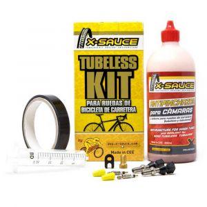 X-sauce Presta Tubeless Kit 17 mm Black - Black - Taille 17 mm