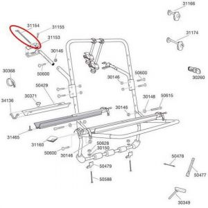 Pièces détachées Thule Upper Hook Backpack 973 1 Unit 31154 - Taille One Size