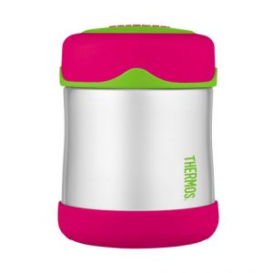 Porte-aliment isotherme 29cl rose et vert - Junior - Thermos