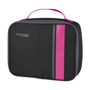 Sac repas isotherme noir et rose - Neo - Thermos