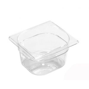 Bac gastronorme GN 1/6 en tritan BPA free 17.6x 16.2 x 10cm - Gastronorme - Paderno