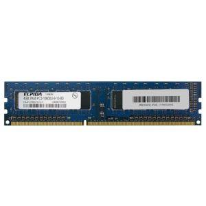 Barrette mémoire RAM Elpida DIMM DDR3 PC3-10600U - 4 Go 1333 MHz - EBJ41UF8BCF0-DJ-F