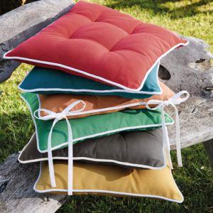 Coussins de chaise Coussins de chaise Unis Curry - 40 cm x 40 cm