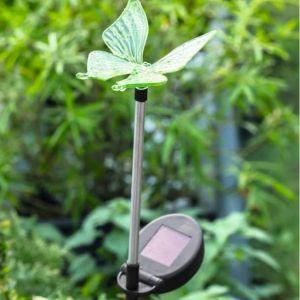 2 Balises solaires Hacienda Vert - Diamètre 11 cm x 8,5 cm x 7 cm