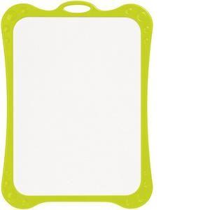 258510 - Ardoise blanche effaçable à sec avec entourage, qualité éco, 1 face unie / 1 face Seyes. Dim.: 18 x 25 cm