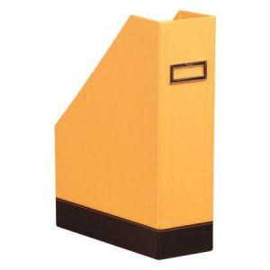 118830C - Porte-revues Orange&Black, dos de 100, simili cuir, coloris orange