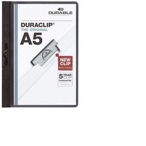 2217-01 - Chemise à clip DURACLIP A5, format A5, noir