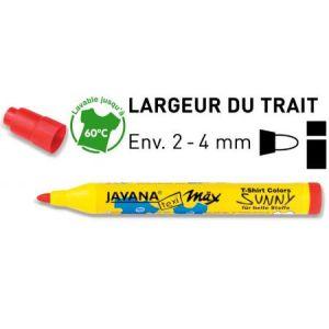 90760 - JAVANA Texi Mäx SUNNY médium, feutre pointe ogive (2-4mm), jaune