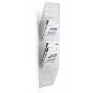 1709763400 - Présentoir mural FLEXIBOXX 12 A4, pour documents A4, transparent