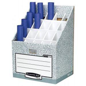 01832EU - Rangement pour rouleaux Bankers Box System, 20 compartiments, en carton recyclé