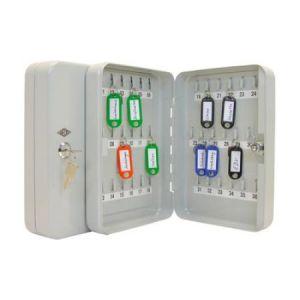 102 52437X - Armoire à clés pour 24 clés, gris-lumière, plate