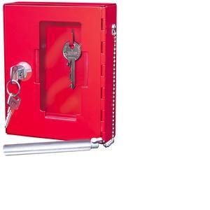 102 50102X - Boîte pour clé de secours, couleur rouge