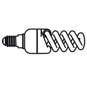 82873-05 - Ampoule basse consommation, culot E14, 2700° K, transparent