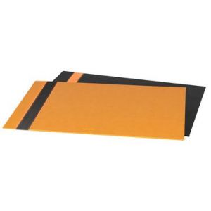 118806C - Sous-main Orange&Black, simili cuir noir, 60x40 cm
