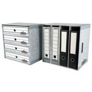 01840EU - Module de rangement Bankers Box System, 4 compartiments, en carton recyclé