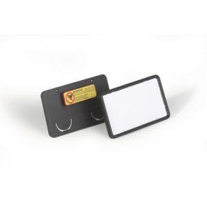 8129-01 - Lot de 25 badges Clip-Card, avec aimant, 75 x 40 mm, dos noir