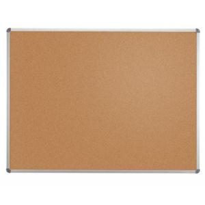 64426-84 - Tableau liège, cadre alu, 100x150 cm, coloris gris