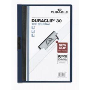 2200-28 - Chemise à clip DURACLIP 30, format A4, bleu nuit