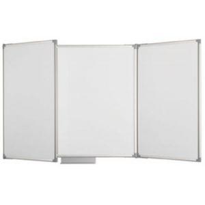 63370-84 - Tableau blanc tryptique, 100x150 (dim. fermé), coloris gris