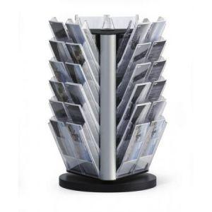 8615-19 - Porte-brochures rotatif COMBIBOXX Table 1/3 A4 XL, 36 cases, coloris transparent