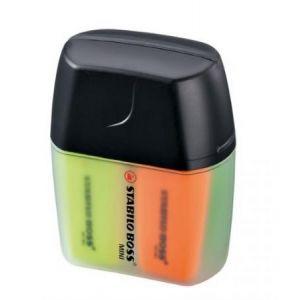 07/04-01 - Boîte de 4 surligneurs BOSS Mini, pointe biseau 2-5 mm, 4 couleurs