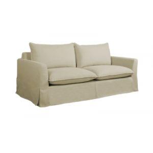 Canapé 3 places déhoussable HAMPTON tissu beige