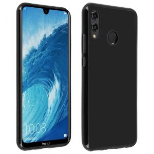 Coque Honor 8X Protection silicone souple ultra-fine - Noir mat