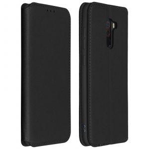 Housse Xiaomi Pocophone F1 Etui folio Porte-cartes Fonction support - noir