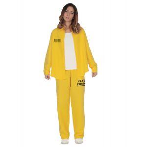 Déguisement prisonnière jaune femme - Taille: M / L