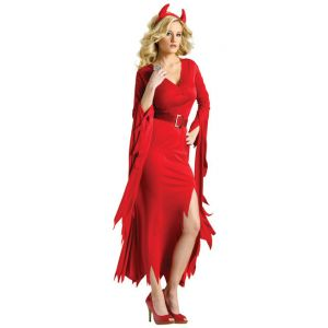 Déguisement diablesse rouge élégante femme - Taille: S / M