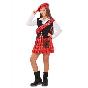 Déguisement petite Écossaise fille - Taille: 7 - 9 ans (122 - 134 cm)