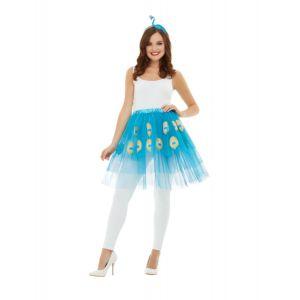 Kit accessoires paon bleu adulte