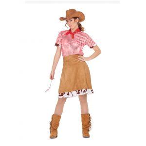 Déguisement cowgirl de l'Ouest femme - Taille: M / L