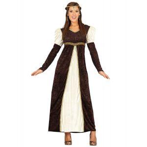 Déguisement princesse médiévale marron femme - Taille: M (38-40)