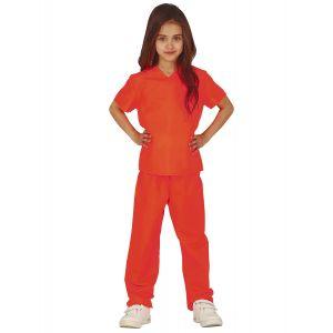Déguisement prisonnière orange fille - Taille: 7 à 9 ans (125-135 cm)