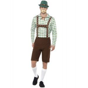 Déguisement bavarois vert et marron adulte - Taille: XL