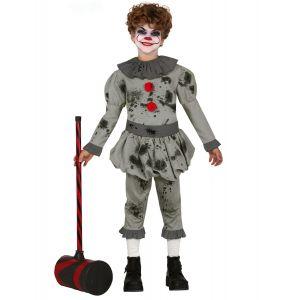 Déguisement clown psychopathe garçon - Taille: 5 à 6 ans (110-115 cm)