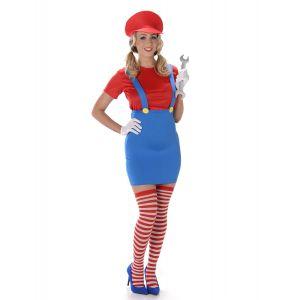 Déguisement Plombier rouge femme - Taille: S